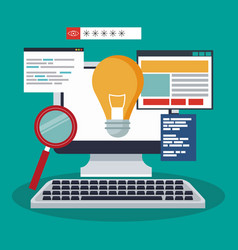 software and programming vector image