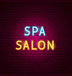 spa salon neon text vector image