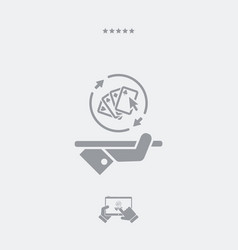 Steady poker gaming - web icon vector