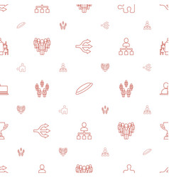 Team icons pattern seamless white background vector