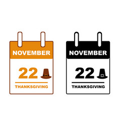 thanksgiving day calendar vector image
