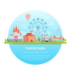 Theme park - modern vector