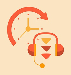 Time telephone conversations vector