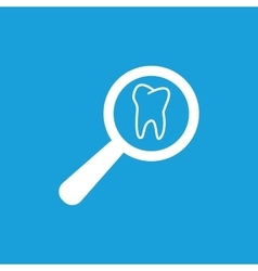 Tooth checkup icon white vector