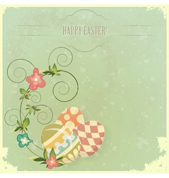 Vintage easter greeting vector