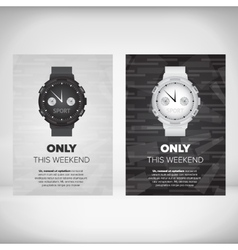 Watches flayer design vector image