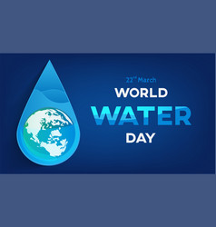 water day banner vector image