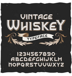 Whiskey vintage typeface vector