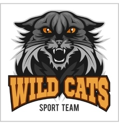 Wildcat mascot - sport team vector image