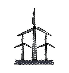 wind turbine icon image vector image