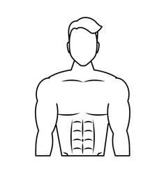 Young man athlete without shirt vector
