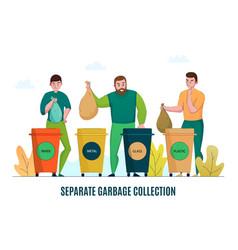 zero waste sorting vector image