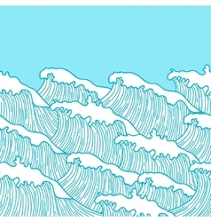 Sea seamless pattern with abstract hand drawn vector image vector image