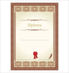 vintage frame certificate or diploma template vector image