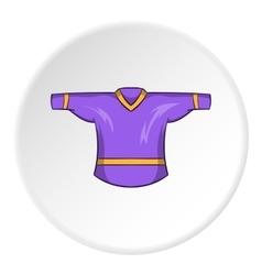 Hockey t-shirt icon cartoon style vector image