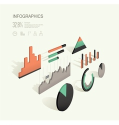 infographic 3d vector image vector image