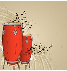 Red drums vector image vector image