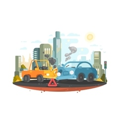 Road traffic accident vector