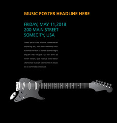 a ghost guitar hides on this music page vector image