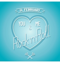 Conceptual valentines day card vector