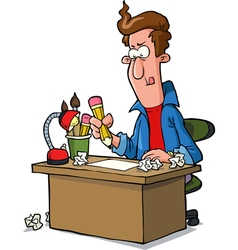 designer at the table vector image vector image