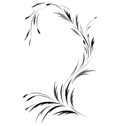 Floral tattoo design vector image vector image