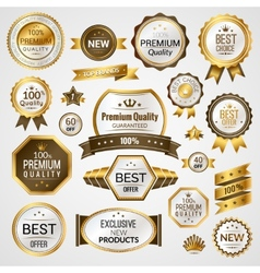 Luxury labels set vector image vector image