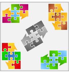 Puzzle Speech Bubbles vector image vector image