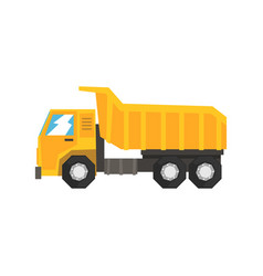 yellow dump truck heavy industrial machinery vector image vector image