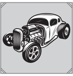 a stylish monochrome hotrod on a vector image vector image
