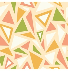 Abstract triangles seamless pattern background vector image