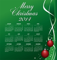 2014 merry christmas calendar vector