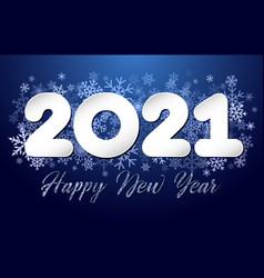 2021 snowflakes dark bg vector