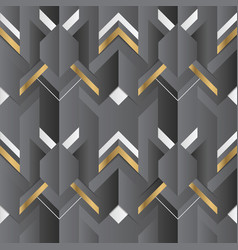 Abstract geometric decor stripes black and golden vector