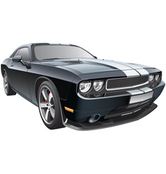American pony car vector