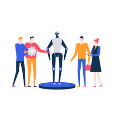 artificial intelligence - flat design style vector image