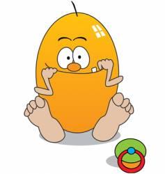 baby egg vector image