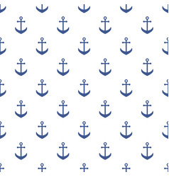 Background with blue anchors vector