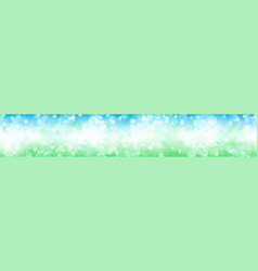 banner flowers vector image
