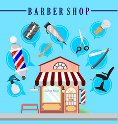 barbershop infographic background design vector image