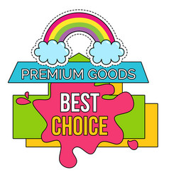 Best choice on sale premium goods clearance vector