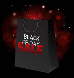 Black friday sale with a package for shopping and vector
