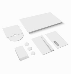 blank stationery set vector image