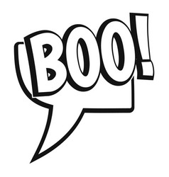 boo comic text speech bubble icon simple style vector image