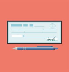 Cheque cheque icon in flat vector