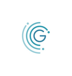 Circle g letter logo design vector