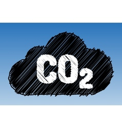CO2 cloud pen style vector