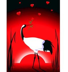 crane in love vector image