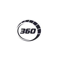 Creative 360 for logo design editable vector