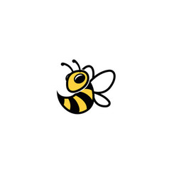 creative bumble bee wasp logo vector image
